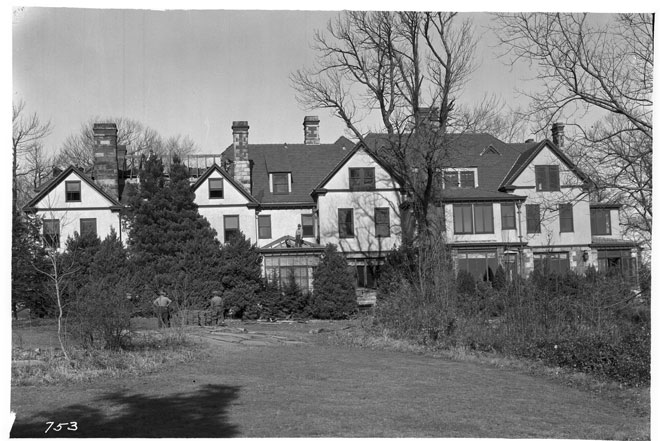 Gray Crag manor house demolition, November 1935