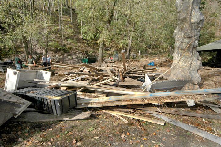 Debris field in Alpine Picnic Area