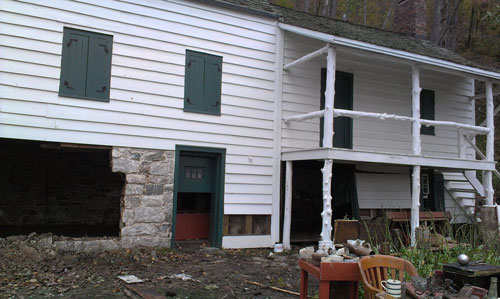 The Kearney House during initial cleanup after Sandy