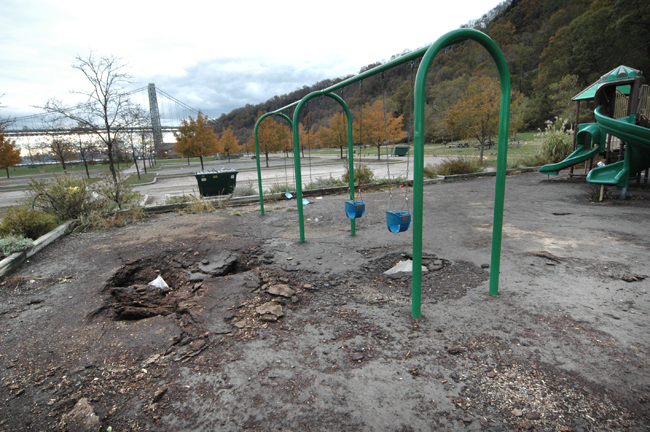 The playground at Ross Dock after Sandy