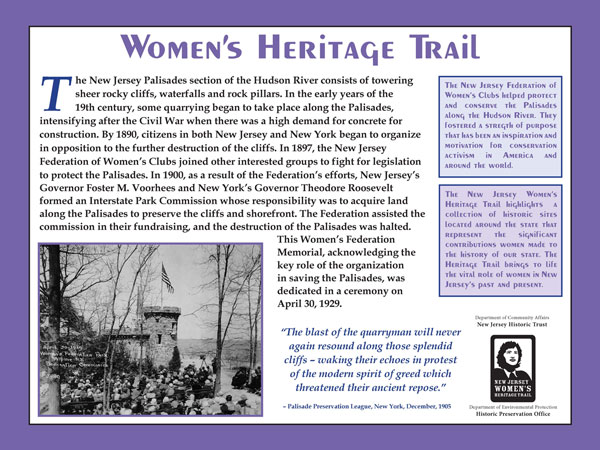 The Women's Federation Monument is a stop on the New Jersey Women's Heritage Trail